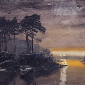 Smith David Wooded Lake Dusk Gradient